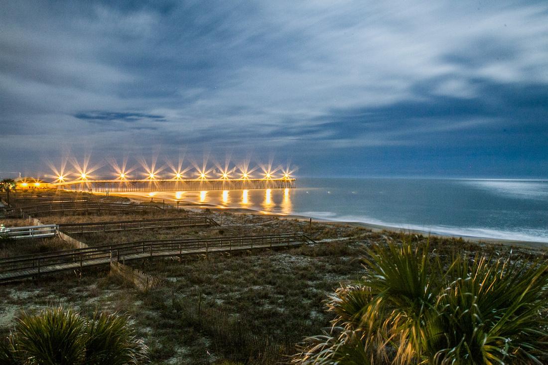 A Winter Night on the Carolina Coast